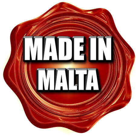 animal origin: Made in malta with some soft smooth lines Stock Photo