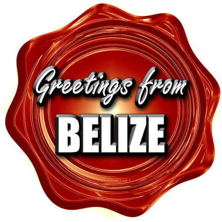 tourism in belize: Greetings from belize card with some soft highlights