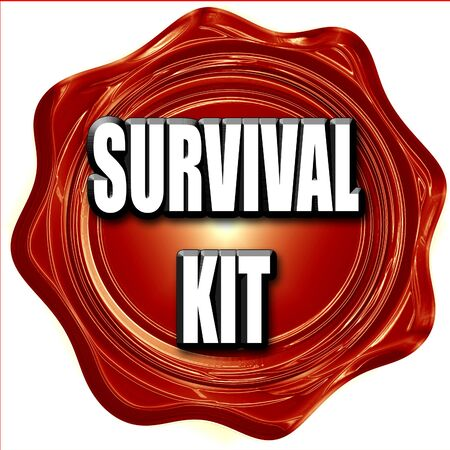 survival: Survival kit sign with some soft flowing lines