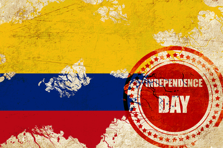 independent day: Colombia flag with some soft highlights and folds