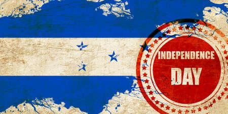 bandera de honduras: bandera de Honduras con algunos toques de luz y suaves pliegues Foto de archivo