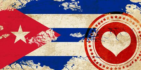 Cuba flag with some soft highlights and folds