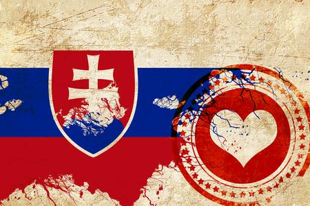 bandera de Eslovaquia con algunos toques de luz y suaves pliegues Foto de archivo