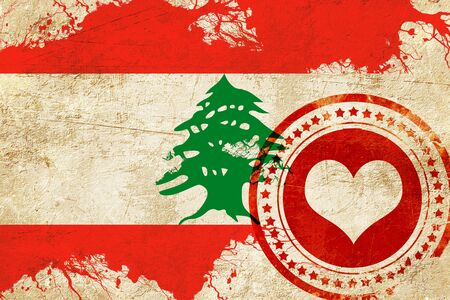 lebanese: Lebanon flag with some soft highlights and folds