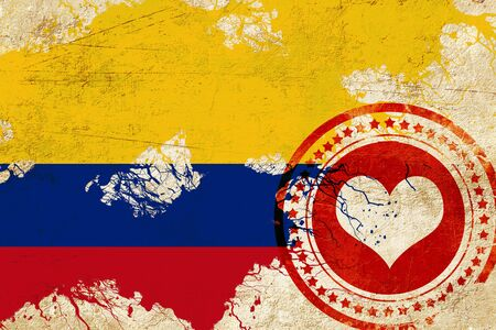 bandera de colombia: Colombia flag with some soft highlights and folds