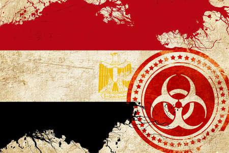 bandera egipto: bandera de Egipto con algunos toques de luz y suaves pliegues