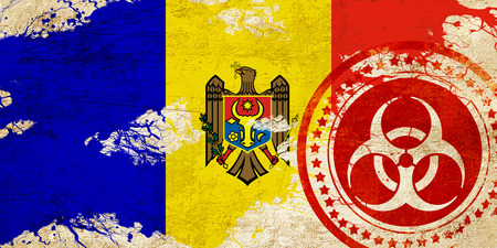 moldovan: Moldova flag with some soft highlights and folds