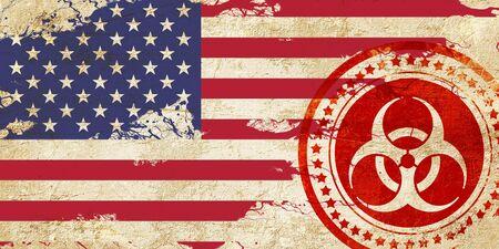 bandera de Estados Unidos con algunos toques de luz y suaves pliegues Foto de archivo