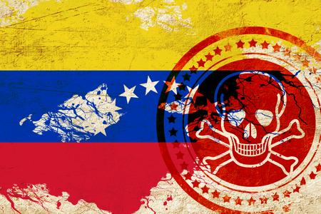 venezuela flag: Venezuela flag with some soft highlights and folds