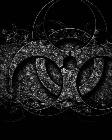 metal grunge: Bio hazard sign on a grunge background with some soft scractches