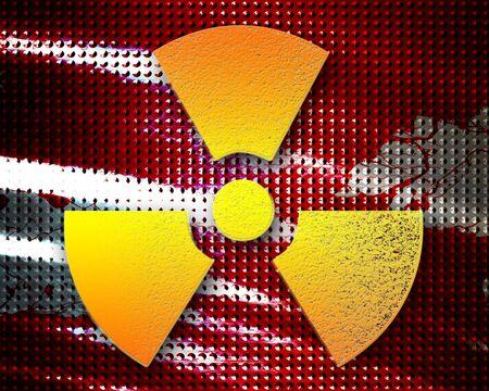 meltdown: Nuclear danger sign on a grunge background