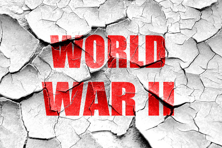 world war 2: Grunge cracked World war 2 background with some smooth lines Stock Photo