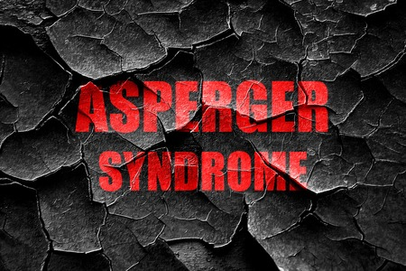 asperger syndrome: Grunge cracked Asperger syndrome background with some soft smooth lines Stock Photo