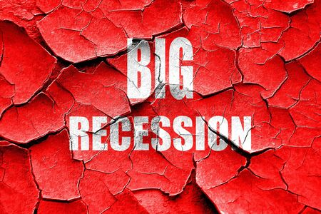 recession: Grunge cracked Recession sign background with some smooth lines