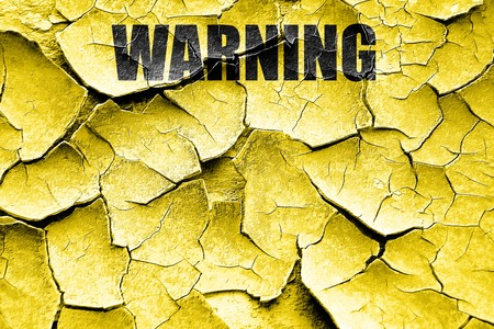 trip hazard sign: Grunge cracked Empty warning sign with space for your own text