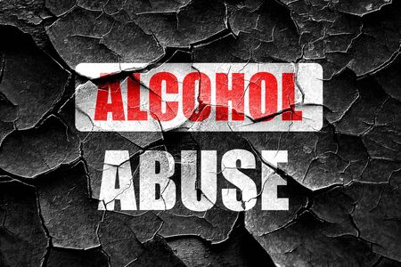 dependance: Grunge cracked Alcohol abuse sign with some soft flowing lines