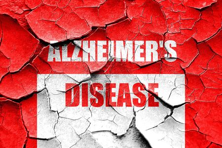 alzheimers: Grunge cracked Alzheimers disease background with some soft flowing lines