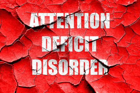 deficit: Grunge cracked Attention deficit disorder with some soft smooth lines Stock Photo