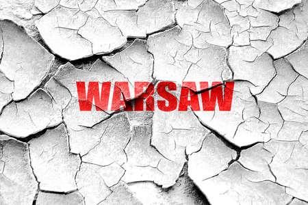 warsaw: Grunge cracked warsaw