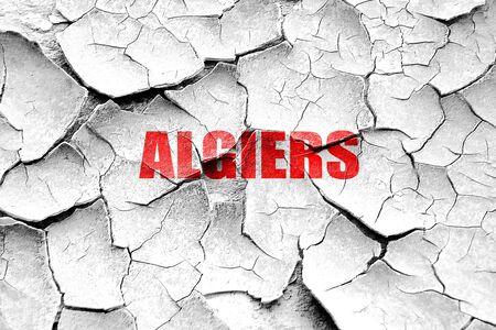 algiers: Grunge cracked algiers Stock Photo