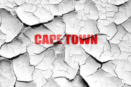 cape town: Grunge cracked cape town