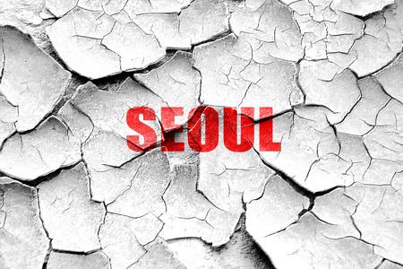 custom letters: Grunge cracked seoul