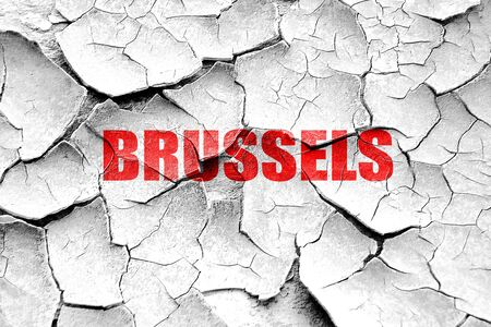 brussels: Grunge cracked brussels Stock Photo