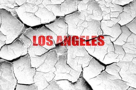 los: Grunge cracked los angeles Stock Photo