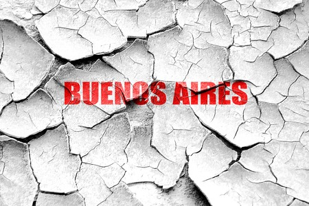 buenos: Grunge cracked buenos aires Stock Photo