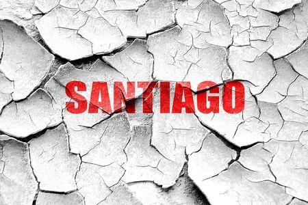 santiago: Grunge cracked santiago