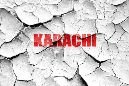 karachi: Grunge cracked karachi Stock Photo