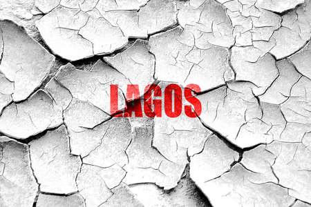 lagos: Grunge cracked lagos