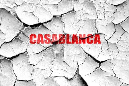 custom letters: Grunge cracked casblanca