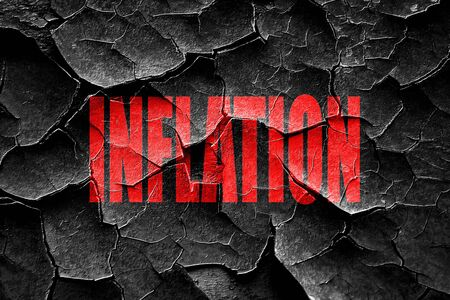 great depression: Grunge cracked Poverty sign background with some smooth lines