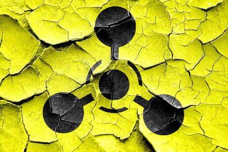 chemical weapon sign: Grunge cracked Chemical weapon sign on a grunge background with some scratches