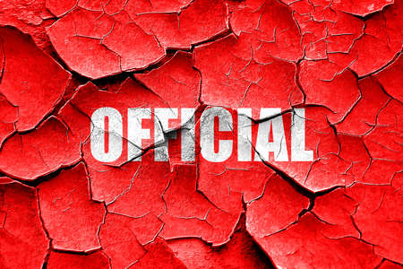 confidentiality: Grunge cracked official sign background with some soft smooth lines