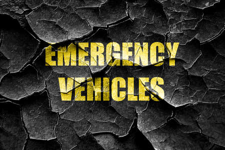 emergency services: Grunge cracked Emergency services sign with yellow and black colors Stock Photo