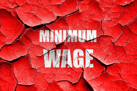 minimum wage: Grunge cracked Sweat shop background with some smooth lines Stock Photo