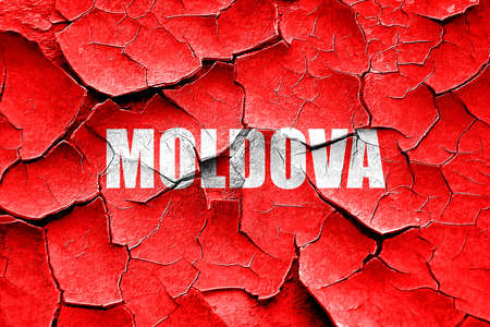 moldovan: Grunge cracked Greetings from moldova card with some soft highlights Stock Photo