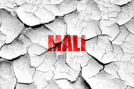 mali: Grunge cracked Greetings from mali card with some soft highlights