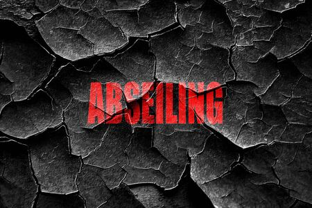 abseiling: Grunge cracked abseiling sign background with some soft smooth lines
