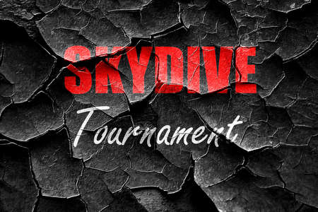 sky dive: Grunge cracked skydive sign background with some soft smooth lines Stock Photo