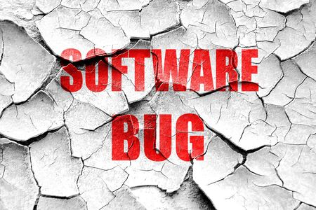 spy ware: Grunge cracked Software bug background with some soft smooth lines