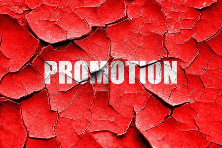 promo: Grunge cracked promo sign background with some soft smooth lines Stock Photo