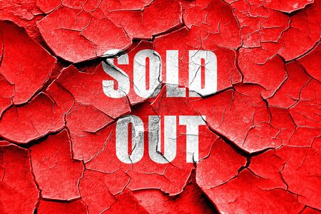 out of order: Grunge cracked sold out sign with some smooth lines Stock Photo