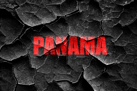 panama: Grunge cracked Greetings from panama card with some soft highlights