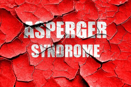 asperger: Grunge cracked Asperger syndrome background with some soft smooth lines Stock Photo
