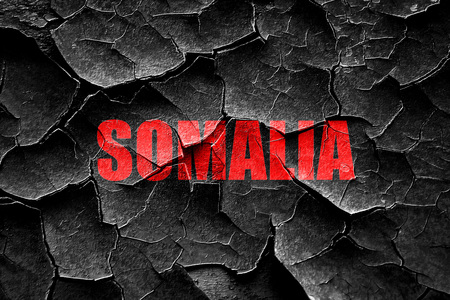 somalia: Grunge cracked Greetings from somalia card with some soft highlights