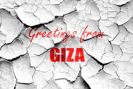 giza: Grunge cracked Greetings from giza  with some soft smooth lines