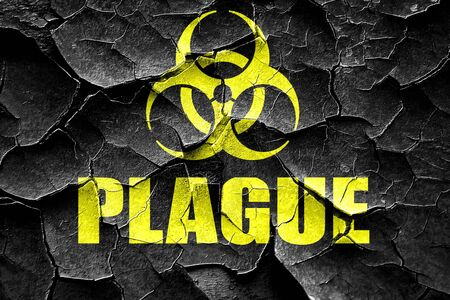 plague: Grunge cracked plague concept background with some soft smooth lines Stock Photo